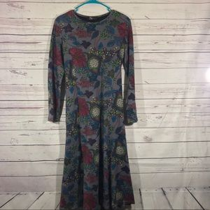 2 Nang Fit and Flare Floral Dress Sz L